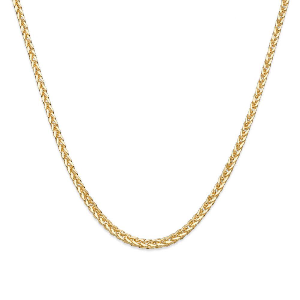 שרשראות זהב   שרשרת ספיגה זהב צהוב 1 מ