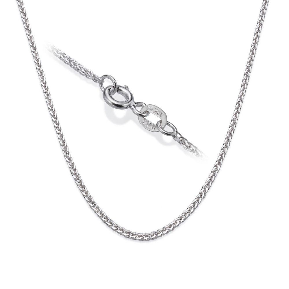 תכשיטי זהב לנשים | שרשרת ספיגה - צמה ענוגה, 0.8 מ