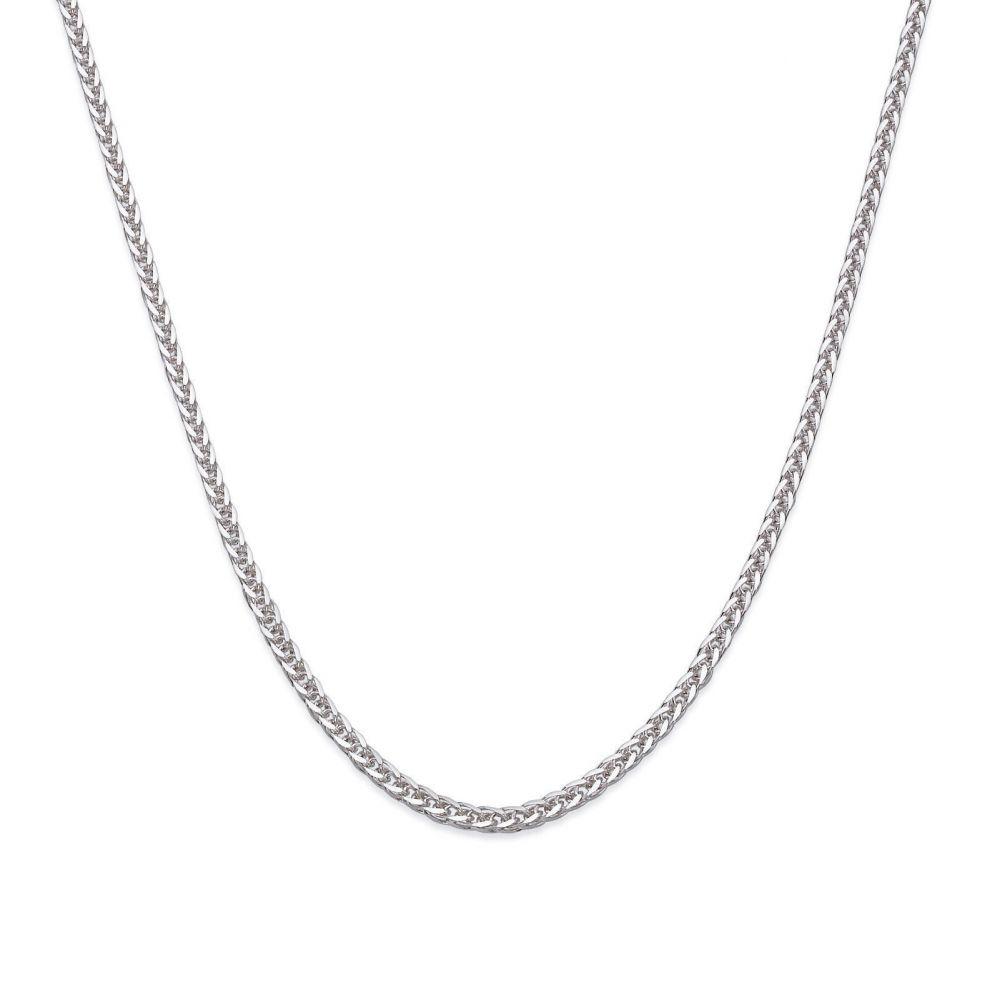 תכשיטי זהב לנשים   שרשרת ספיגה - צמה ענוגה, 0.8 מ