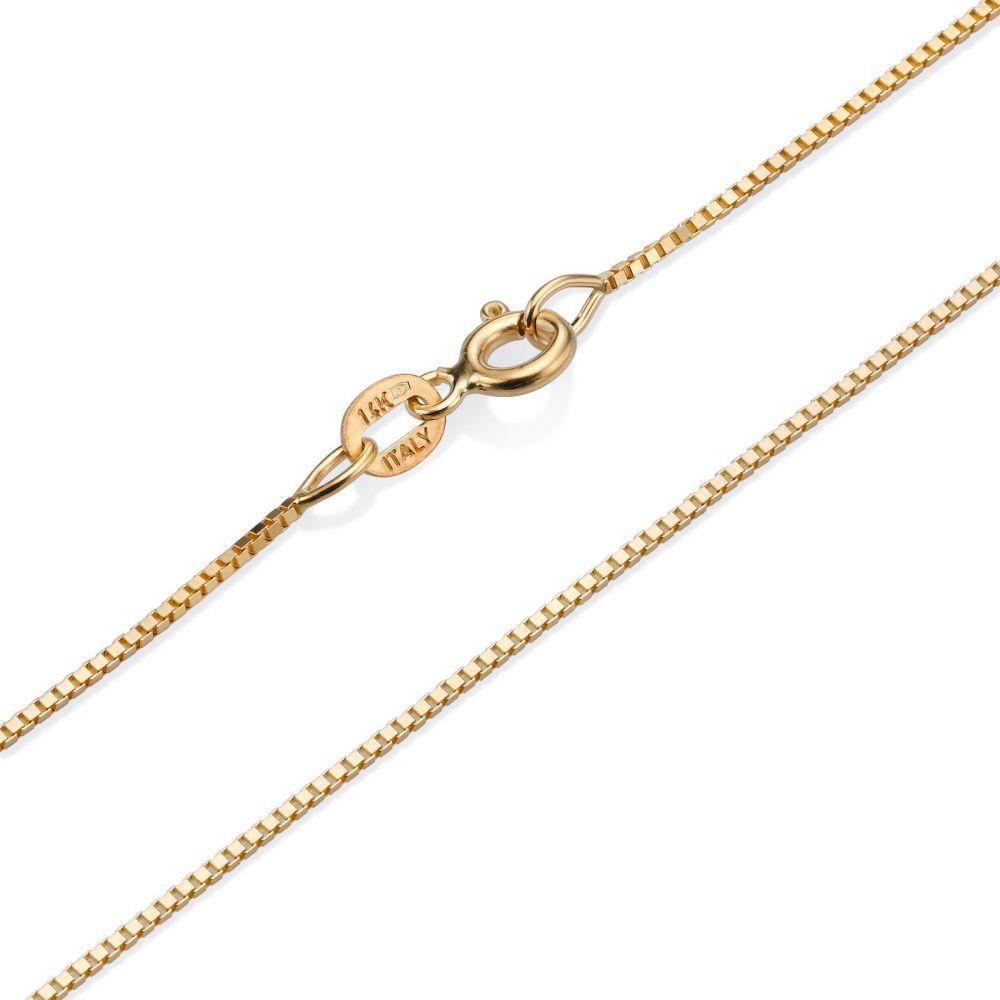 שרשראות זהב | שרשרת ונציה זהב צהוב - העדינה הקלאסית, 0.8 מ