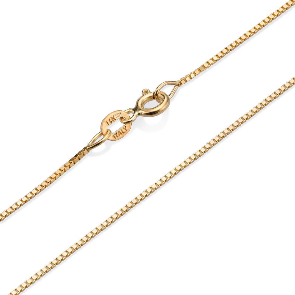 תכשיטי זהב לנשים   שרשרת ונציה - העדינה הקלאסית, 0.8 מ