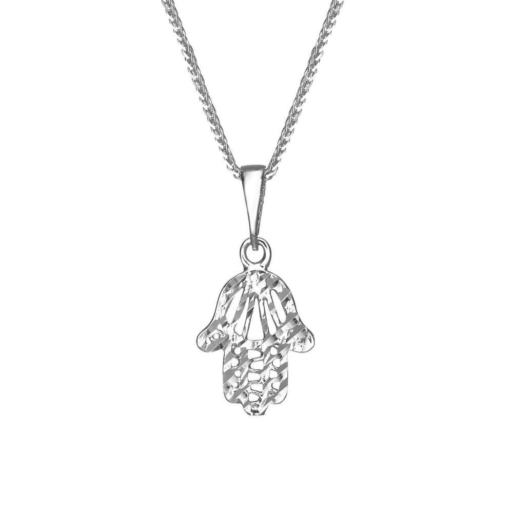 תליוני זהב | תליון זהב לבן - חמסה שיראל