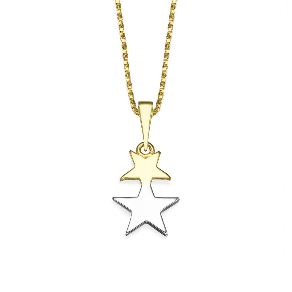 תכשיטי זהב לנשים | תליון זהב- כוכב אורנוס