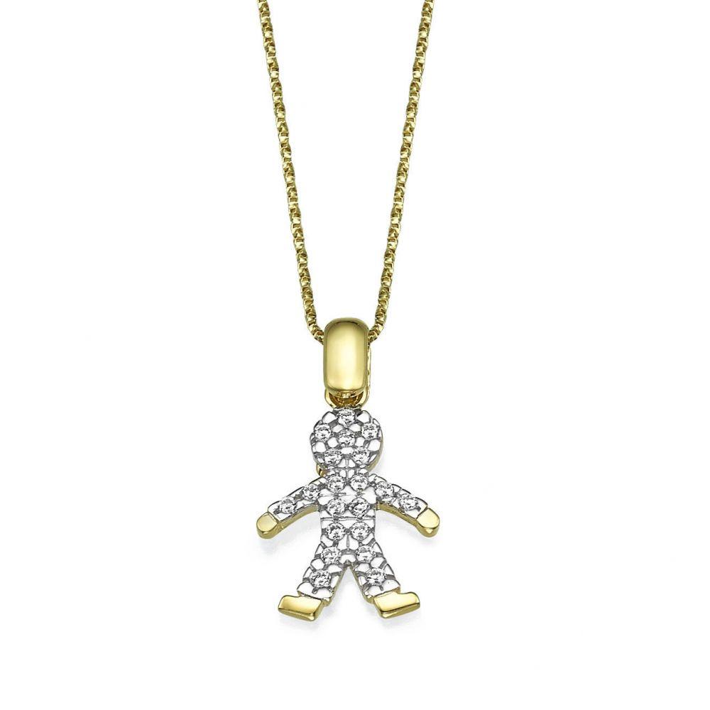 תכשיטי זהב לנשים | תליון מזהב צהוב - דני-בוי
