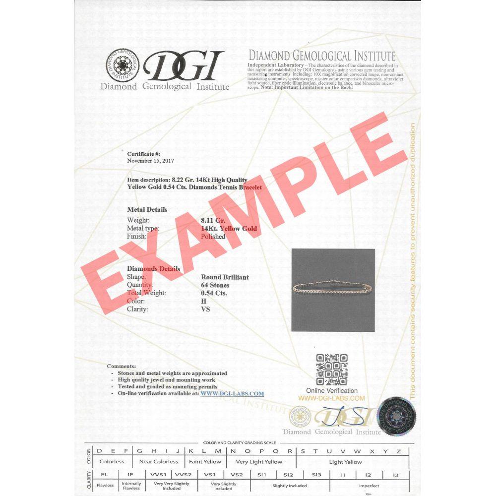 תכשיטי יהלומים | צמיד טניס יהלומים פירמידה זהב צהוב - קייט