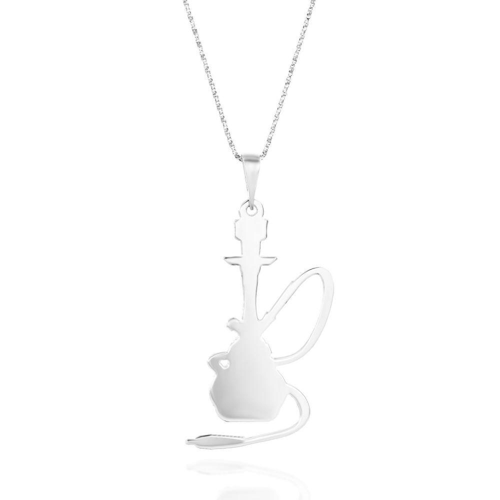 תכשיטים מזהב לילדות   שרשרת זהב 14k לבן - נרגילה