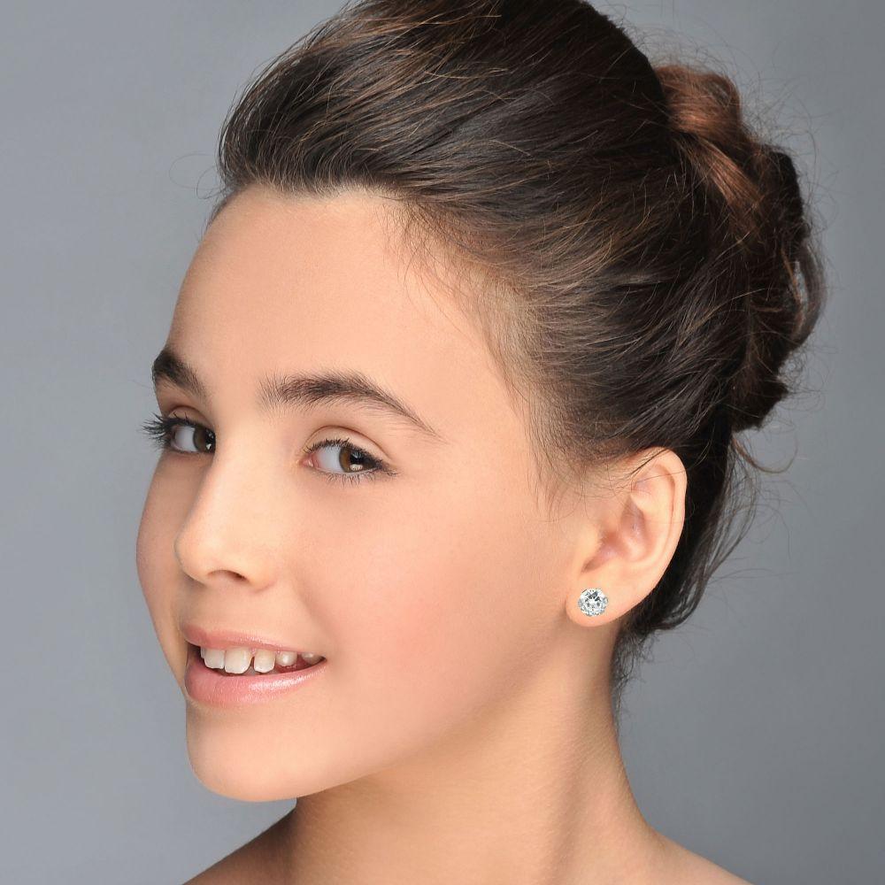 תכשיטי זהב לנשים | עגילי זהב צמודים -  עיגול דיאנה