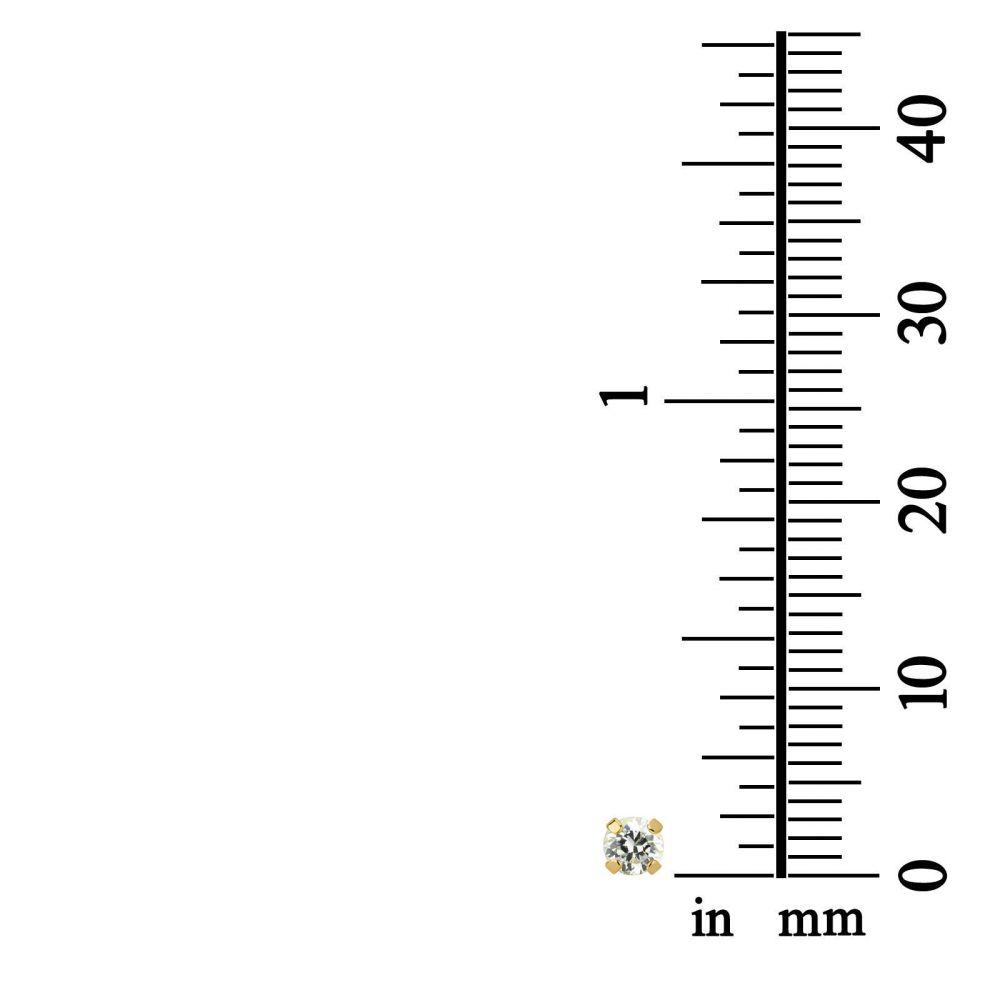 תכשיטים מזהב לילדות | עגילים צמודים מזהב צהוב 14 קראט - מולאן
