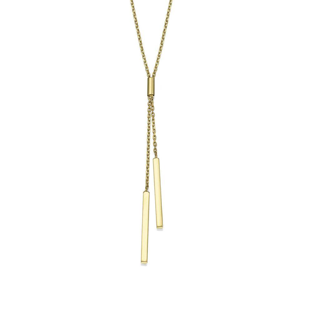 תכשיטי זהב לנשים | תליון ושרשרת מזהב צהוב 14 קראט - לריאט