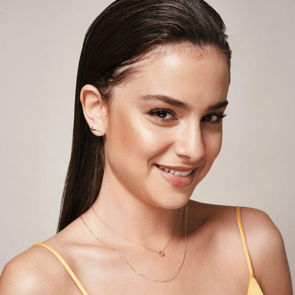 תכשיטי זהב לנשים | תליון ושרשרת מזהב צהוב 14 קראט - עיגול זהב