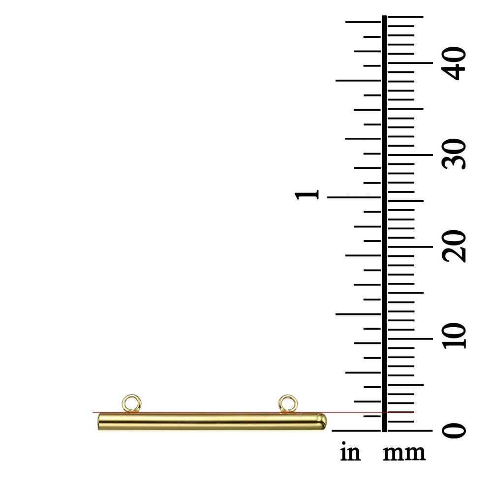 תכשיטי זהב לנשים | תליון ושרשרת מזהב צהוב 14 קראט - צינור זהב