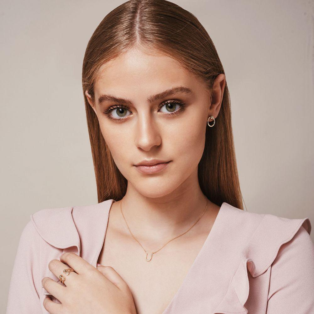 תכשיטי זהב לנשים | תליון ושרשרת מזהב לבן 14 קראט - פרסת המזל