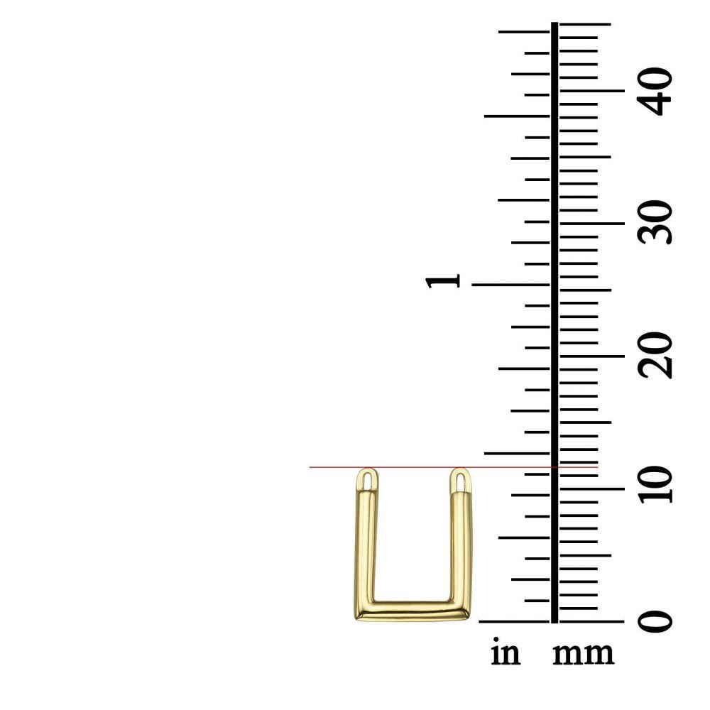 תכשיטי זהב לנשים | תליון ושרשרת מזהב לבן 14 קראט - ריבוע הזהב