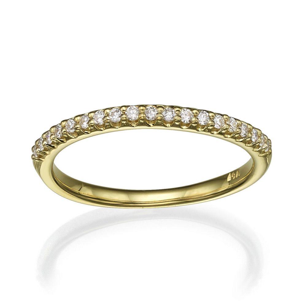 תכשיטי יהלומים | טבעת יהלום מזהב צהוב 14 קראט - נסיכה