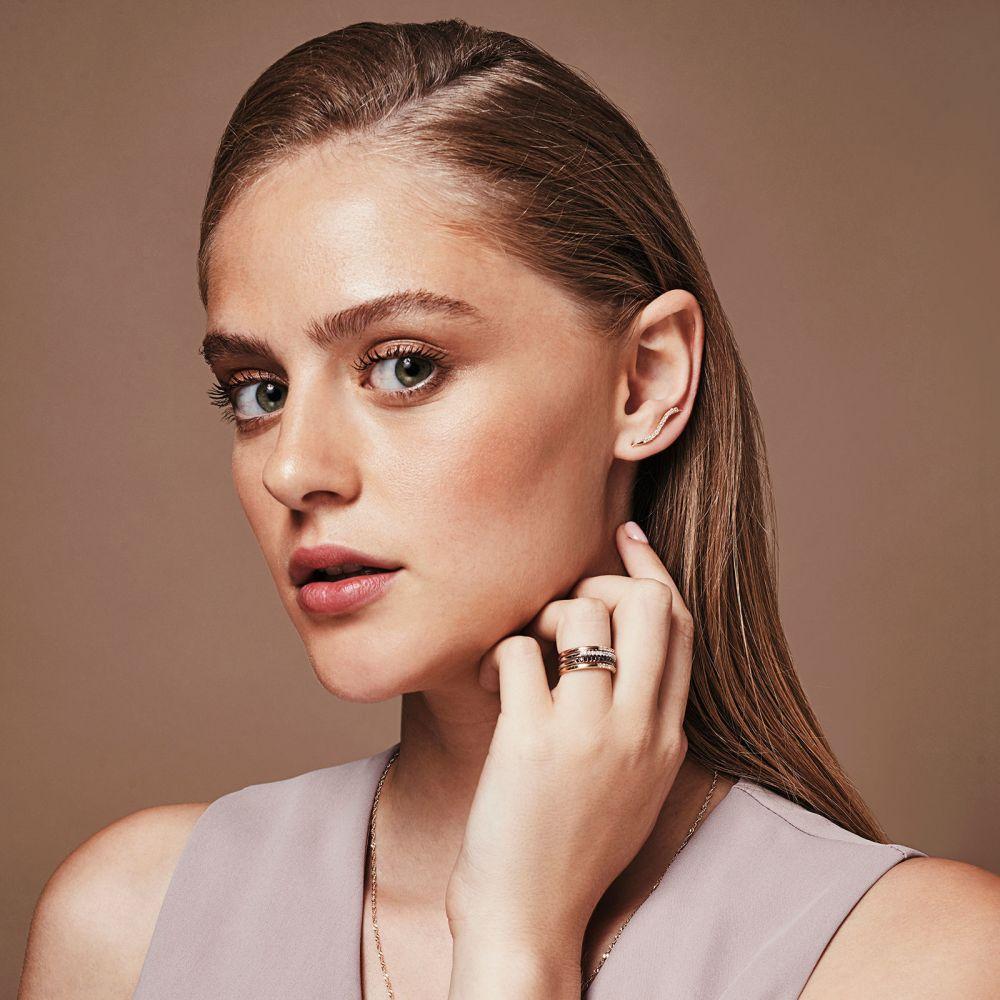 תכשיטי יהלומים | טבעת יהלום שחור מזהב צהוב 14 קראט - נסיכה