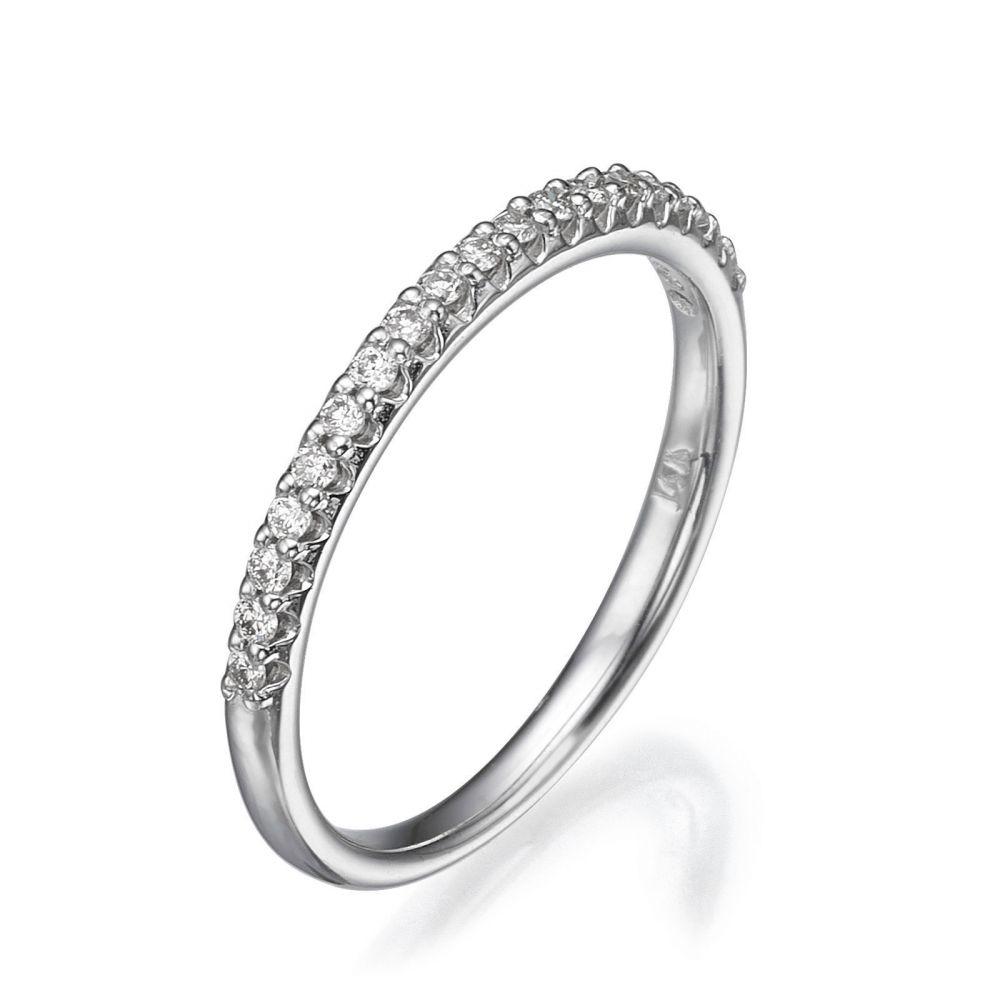 תכשיטי יהלומים | טבעת יהלום מזהב לבן 14 קראט - נסיכת הקרח