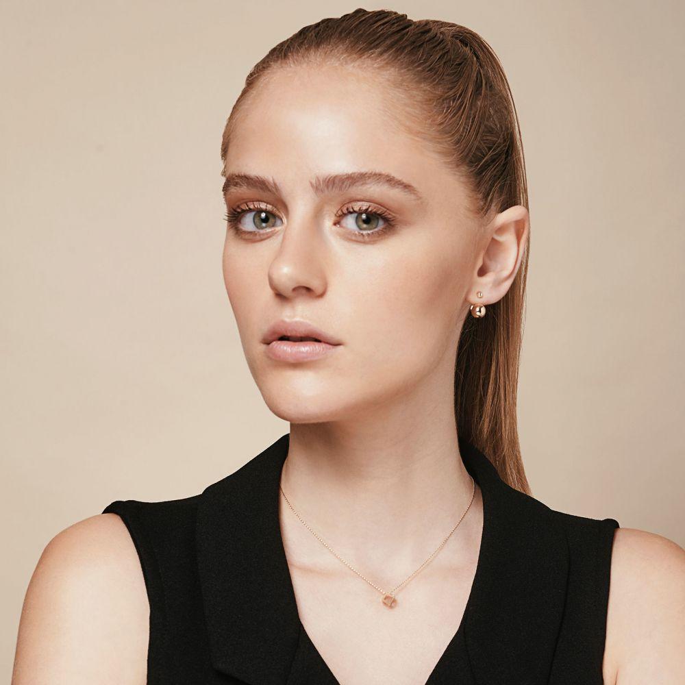 תכשיטי זהב לנשים | עגילים חובקים מזהב צהוב - ונוס ומארס
