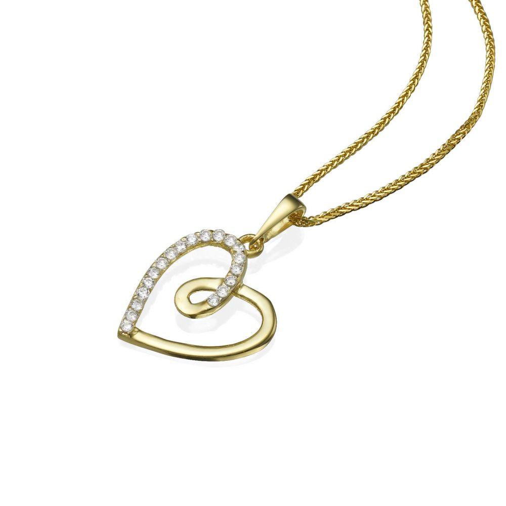 תכשיטי זהב לנשים | תליון מזהב -  לב גאיה