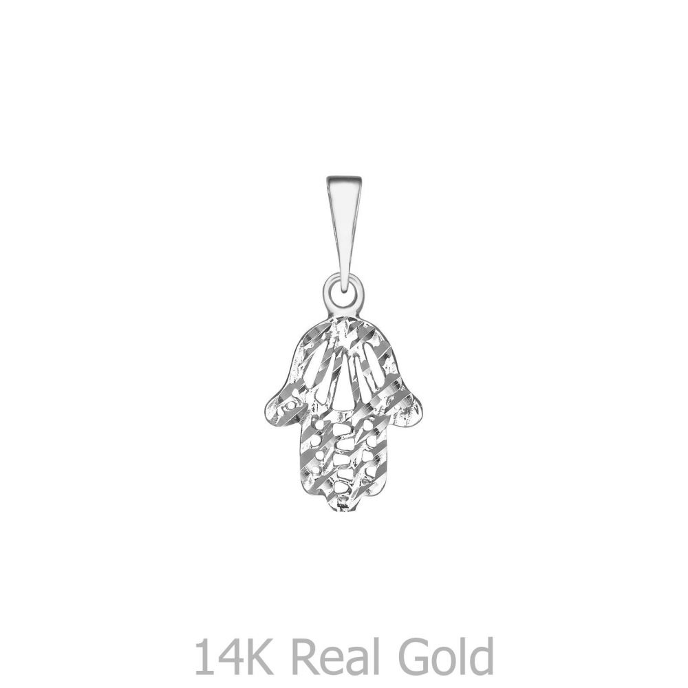 Sale | תליון זהב לבן - חמסה שיראל