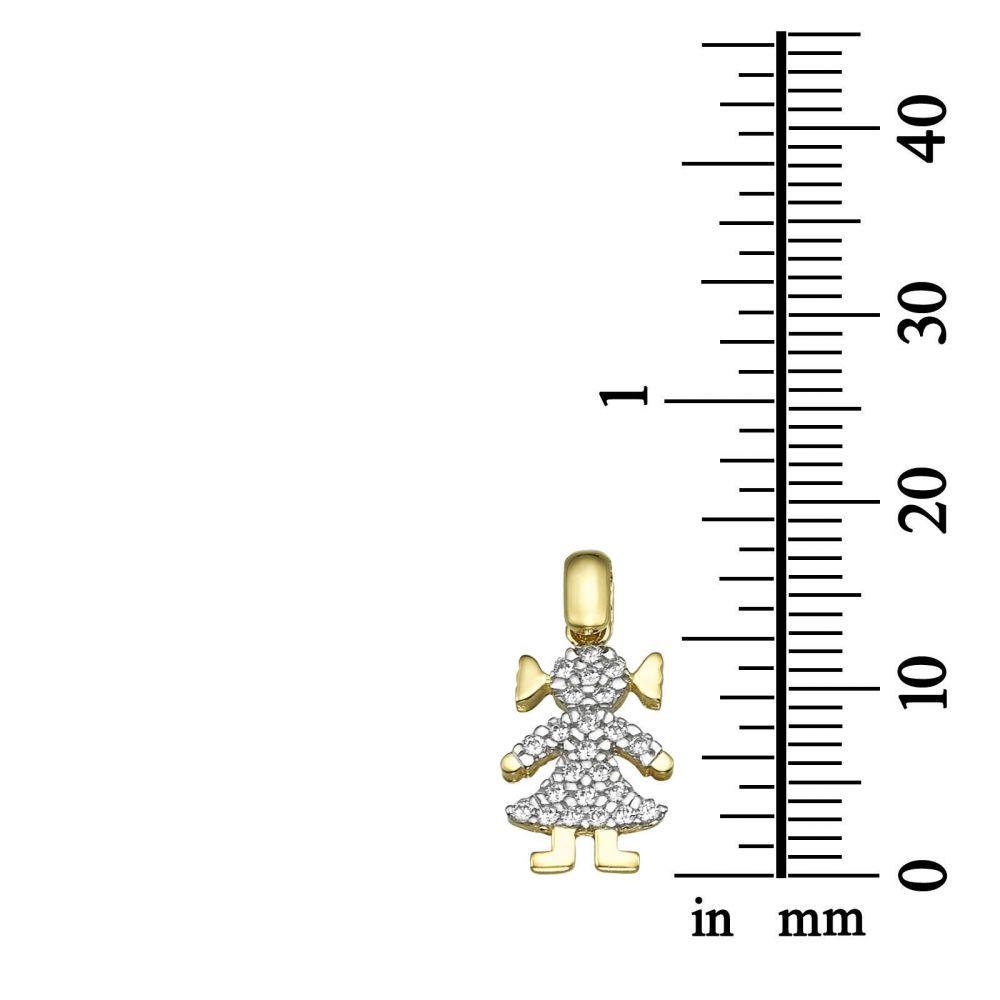תכשיטי זהב לנשים | תליון מזהב צהוב - גו-גירל