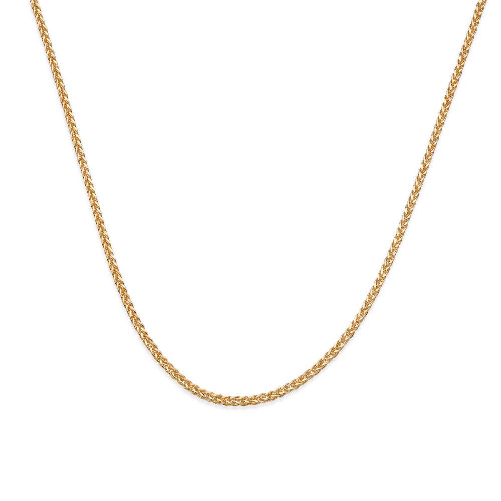 שרשראות זהב | שרשרת ספיגה זהב צהוב 14 קראט, 0.8 מ