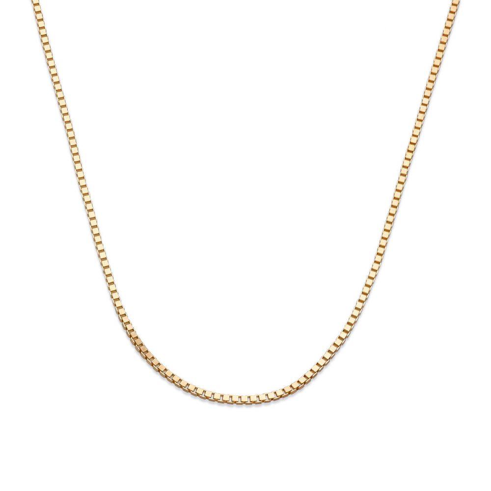 שרשראות זהב   שרשרת ונציה זהב צהוב 14 קראט, 0.8 מ