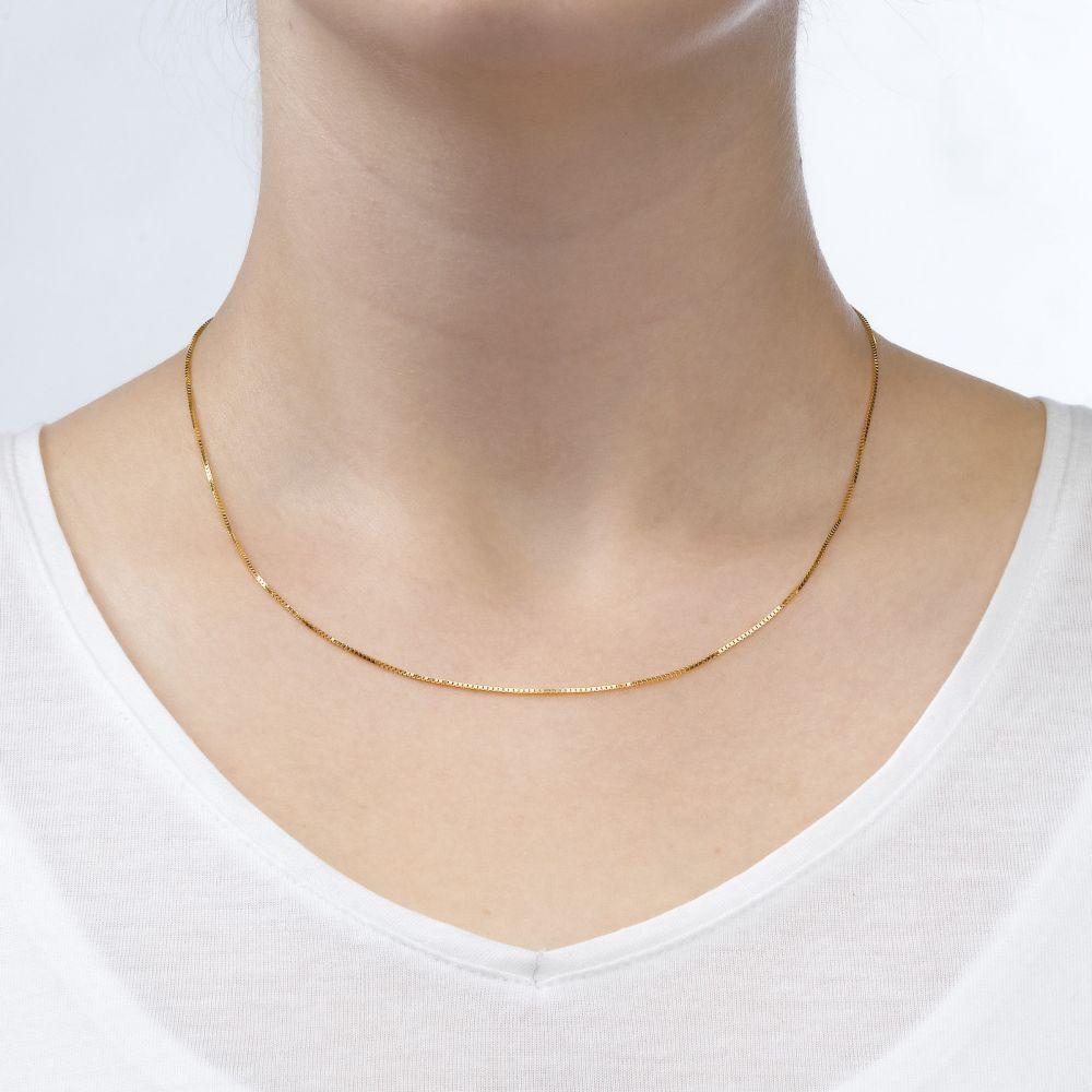 שרשראות זהב | שרשרת ונציה זהב צהוב 14 קראט, 0.8 מ