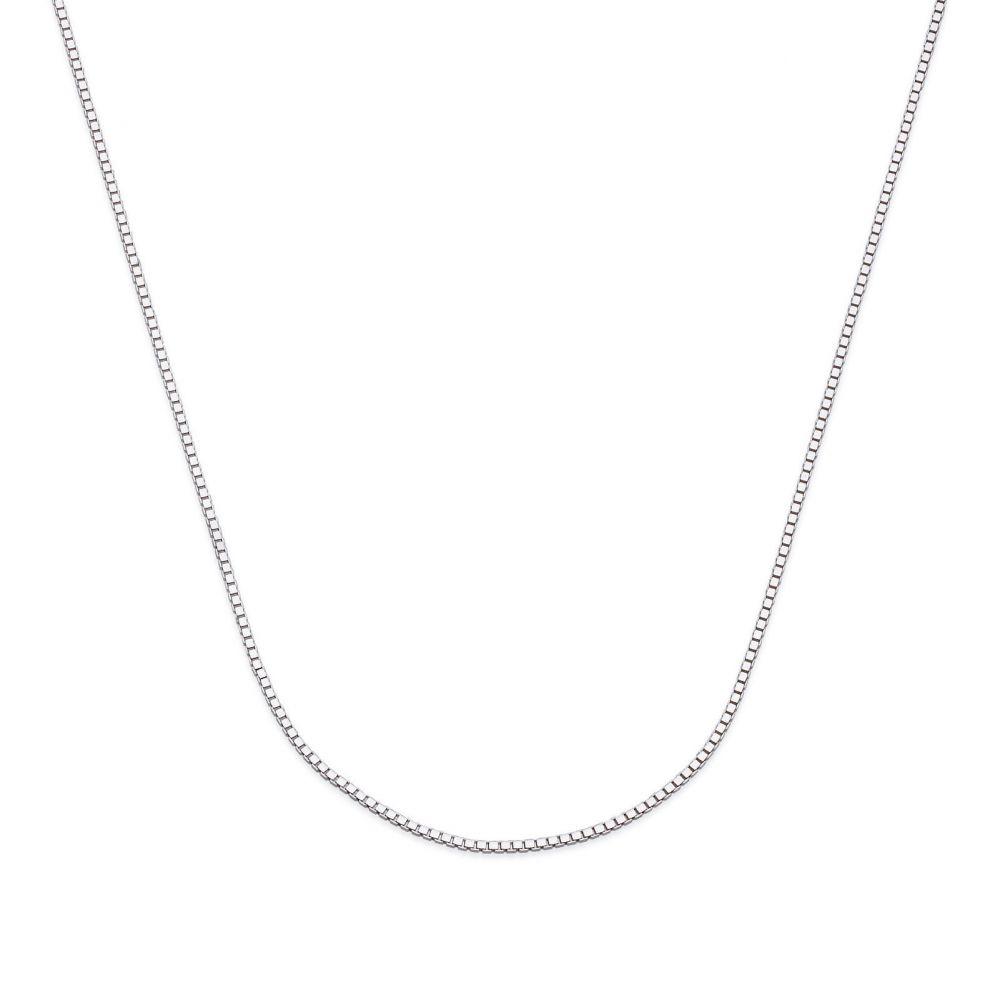 שרשראות זהב | שרשרת ונציה זהב לבן 14 קראט, 0.53 מ