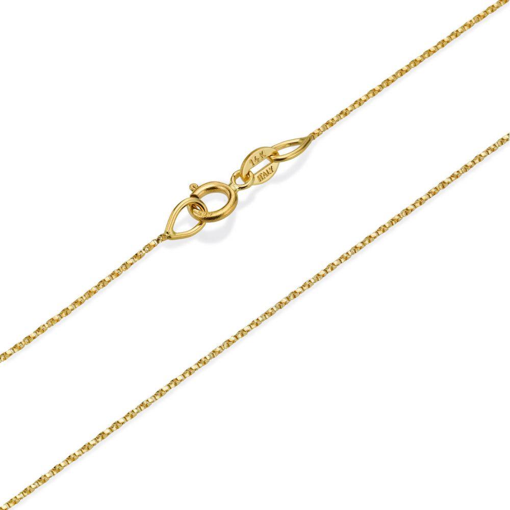 שרשראות זהב | שרשרת מסובבת זהב צהוב 14 קראט, 0.6 מ