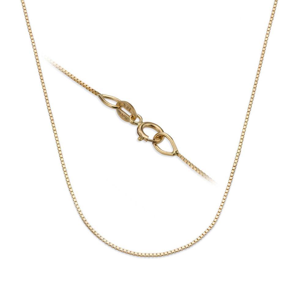 שרשראות זהב | שרשרת ונציה זהב צהוב 14 קראט, 0.53 מ
