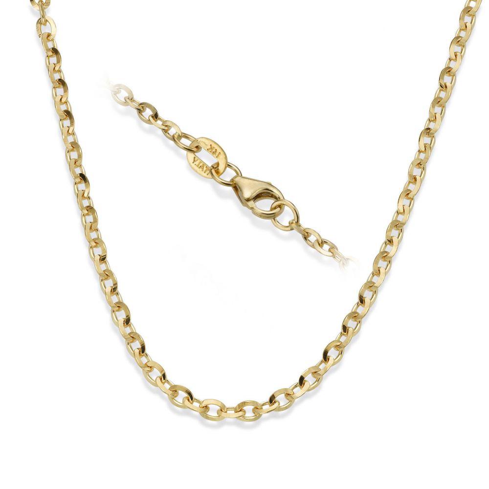 שרשראות זהב   שרשרת רולו זהב צהוב 14 קראט, 2.2 מ
