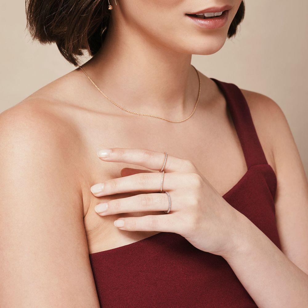 תכשיטי יהלומים | טבעת יהלום מזהב ורוד 14 קראט - נסיכת קיץ