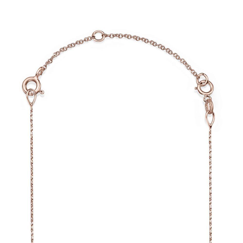 שרשראות זהב   שרשרת הארכה מזהב ורוד 14 קראט