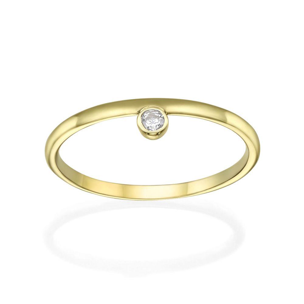 תכשיטי זהב לנשים | טבעת מזהב צהוב 14 קראט - אמה