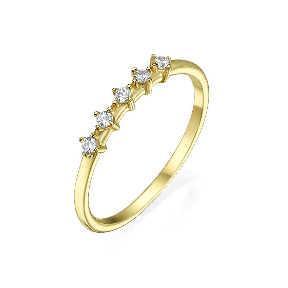 תכשיטי זהב לנשים | טבעת מזהב צהוב 14 קראט - מייגן