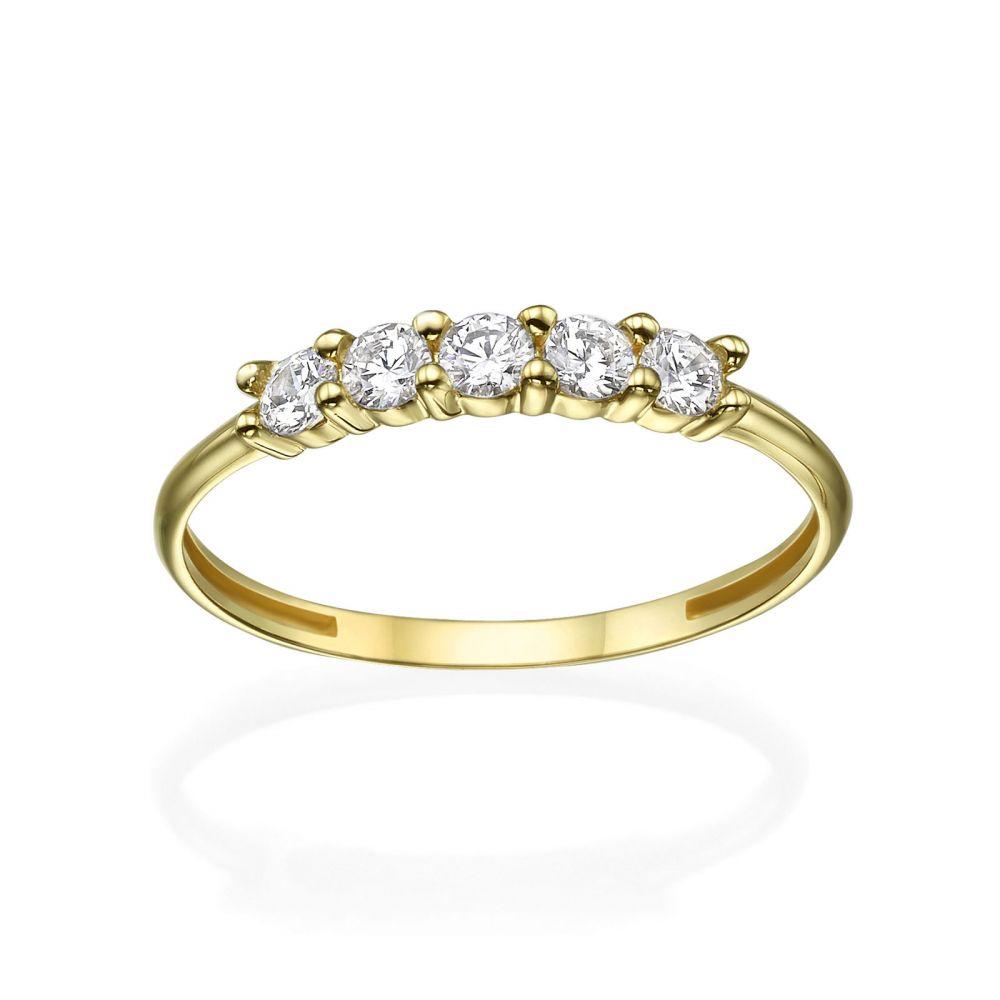 תכשיטי זהב לנשים | טבעת מזהב צהוב 14 קראט - סופיה