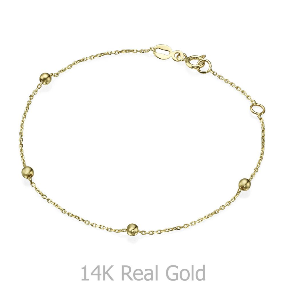 תכשיטי זהב לנשים | צמיד לאישה מזהב צהוב 14 קראט - ג'סמין