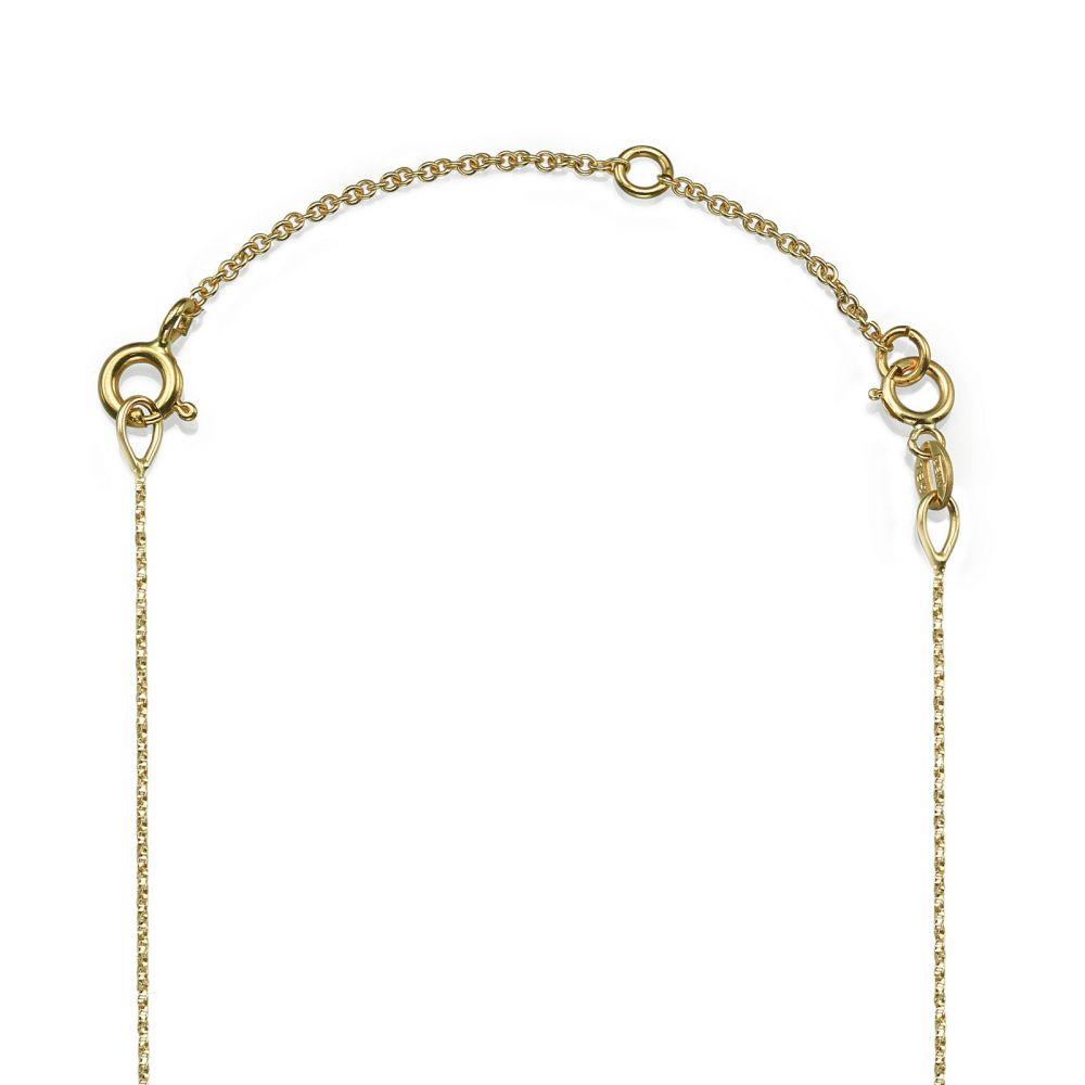 שרשראות זהב   שרשרת הארכה מזהב צהוב 14 קראט - 5 ס''מ