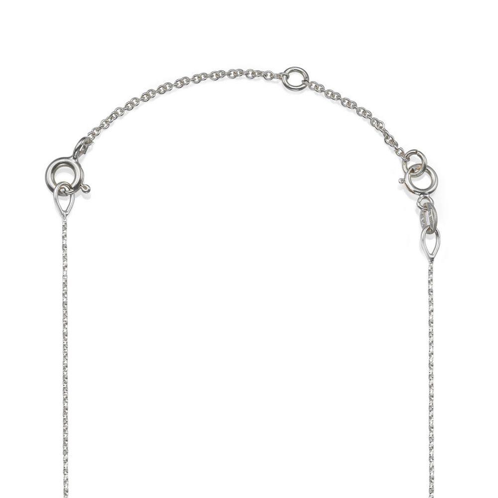 שרשראות זהב | שרשרת הארכה מזהב לבן 14 קראט - 5 ס''מ