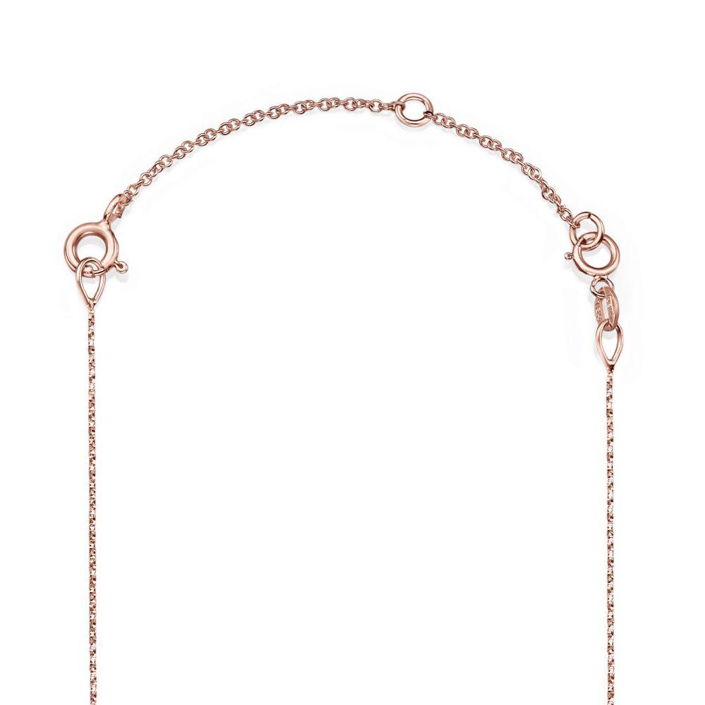 שרשראות זהב | שרשרת הארכה מזהב ורוד 14 קראט - 5 ס''מ