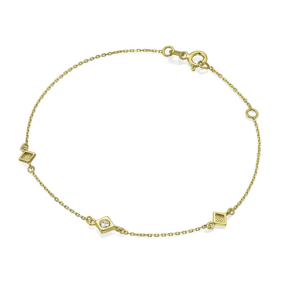 תכשיטי זהב לנשים | צמיד לאישה מזהב צהוב 14 קראט - בלנקה