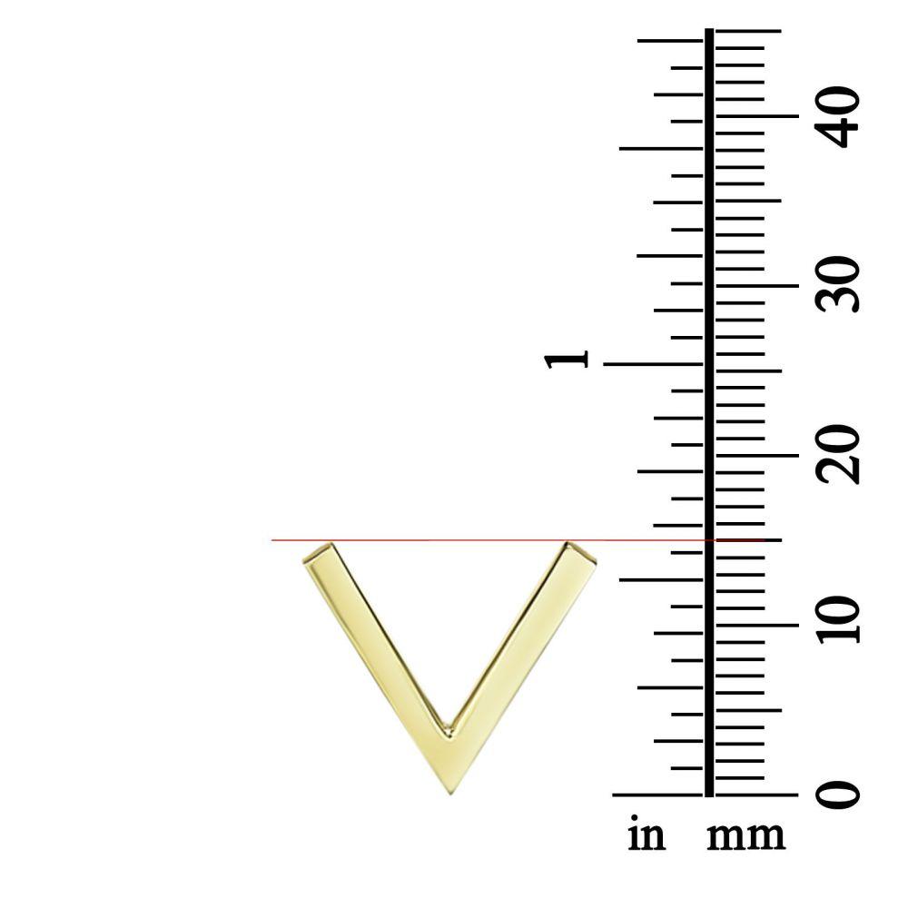 תכשיטי זהב לנשים | שרשרת ותליון מזהב צהוב 14 קראט -  ויולט