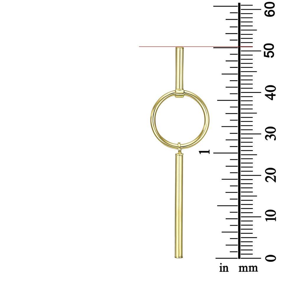 תכשיטי זהב לנשים | עגילים תלויים מזהב צהוב 14 קראט - טוקיו