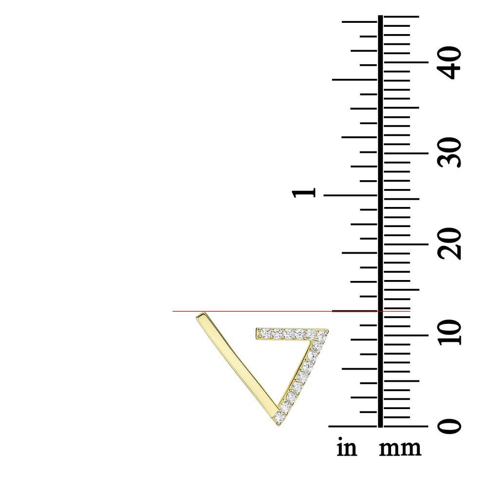 תכשיטי זהב לנשים | עגילים מטפסים מזהב צהוב 14 קראט - קליאופטרה
