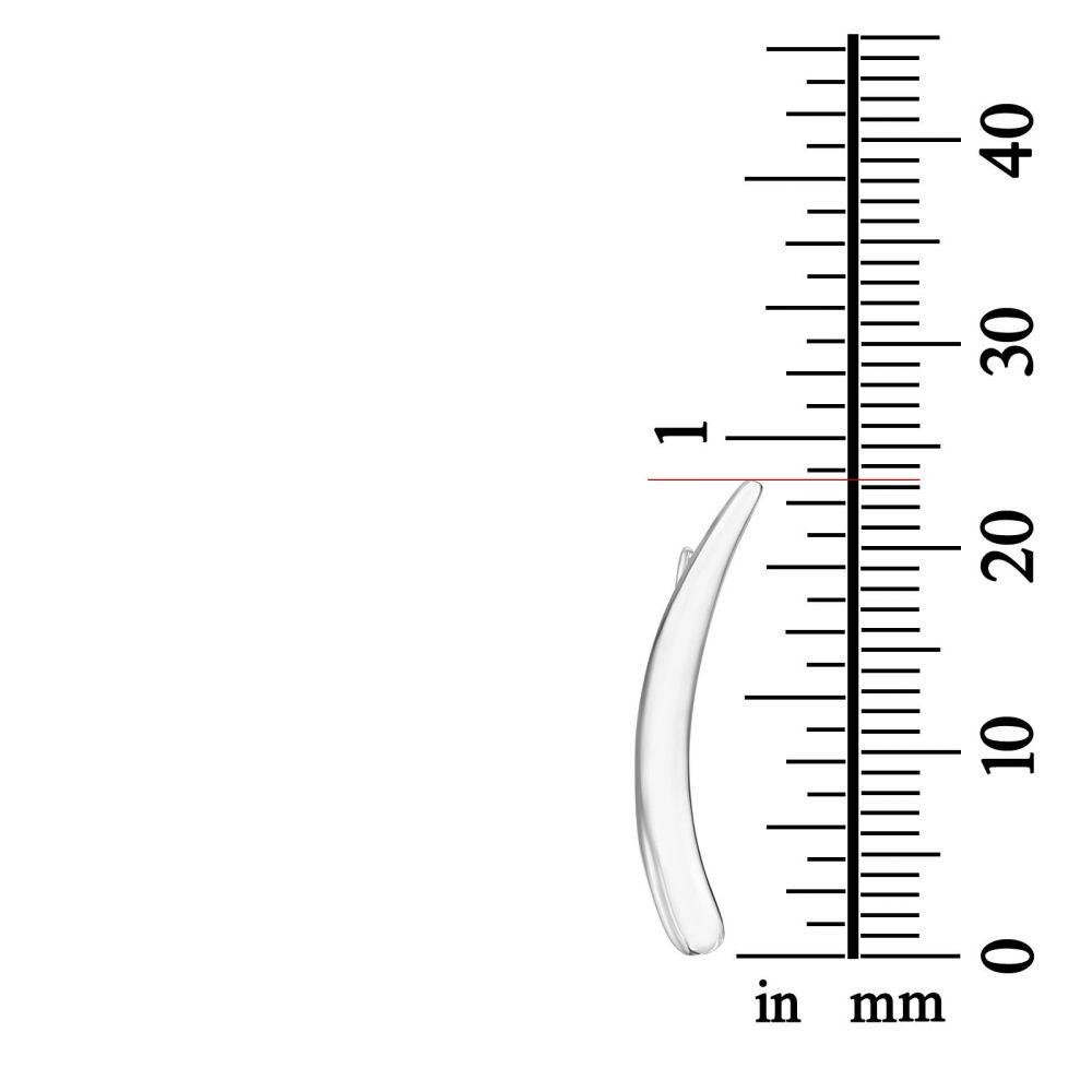 עגילי זהב | עגילים מטפסים מזהב לבן 14 קראט - לילי