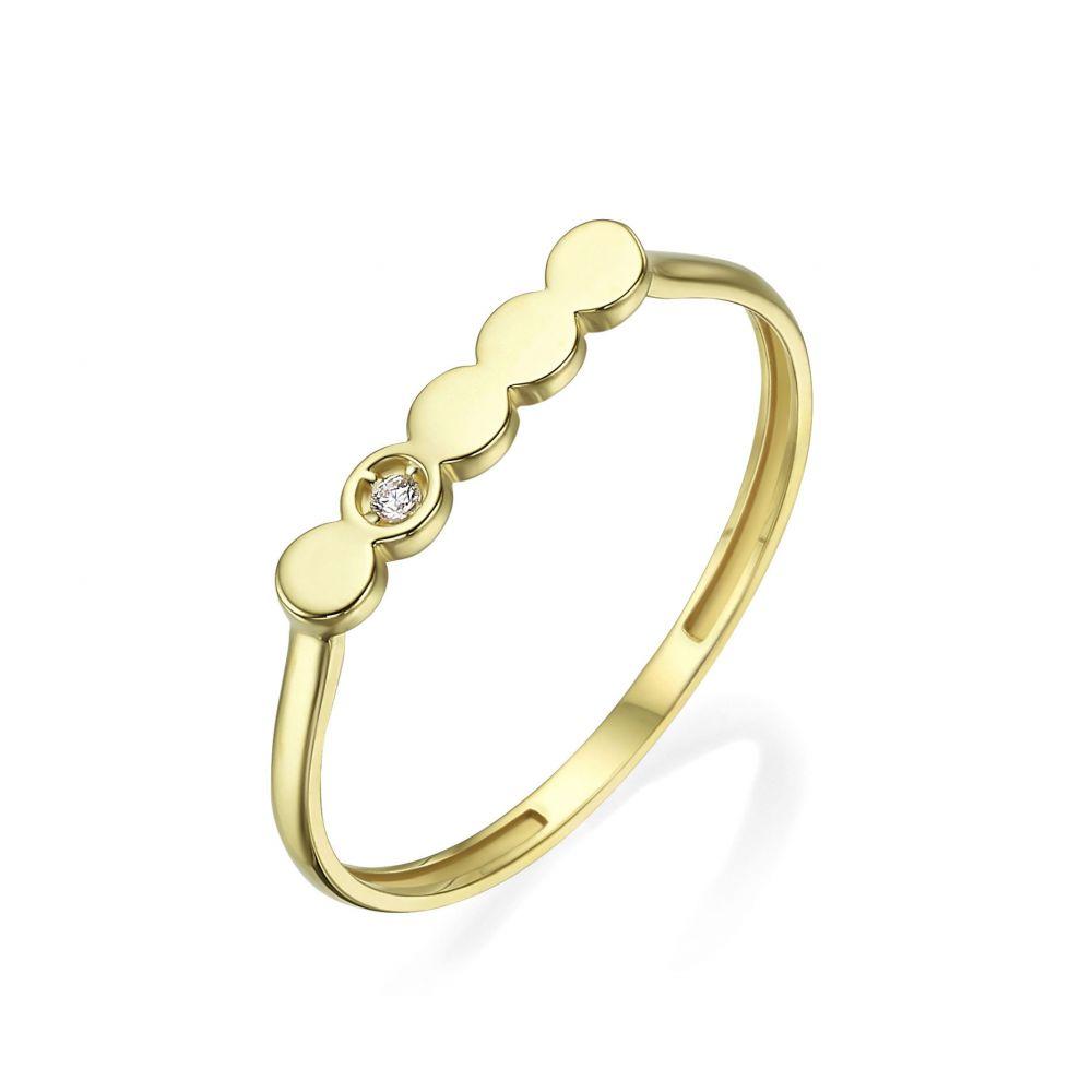 תכשיטי זהב לנשים | טבעת מזהב צהוב 14 קראט -  ניקול