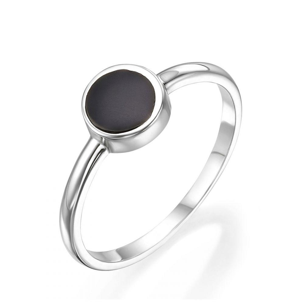 תכשיטי זהב לנשים | טבעת מזהב לבן 14 קראט - נפטון