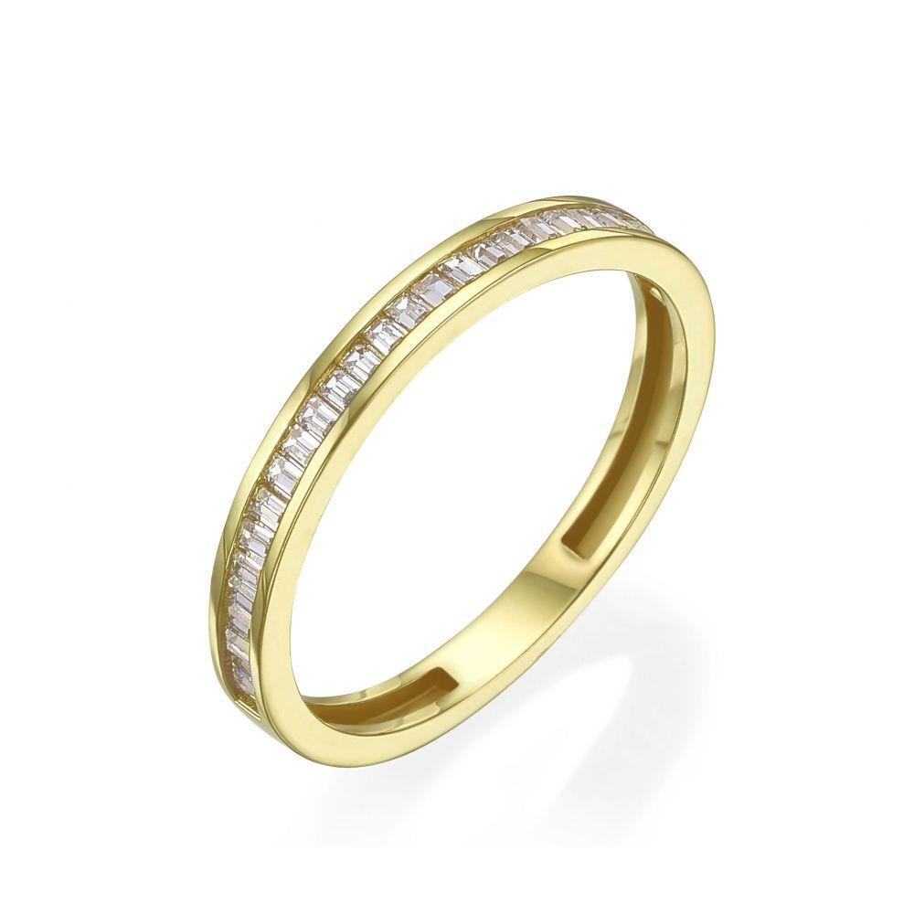 תכשיטי זהב לנשים | טבעת מזהב צהוב 14 קראט -   רומא