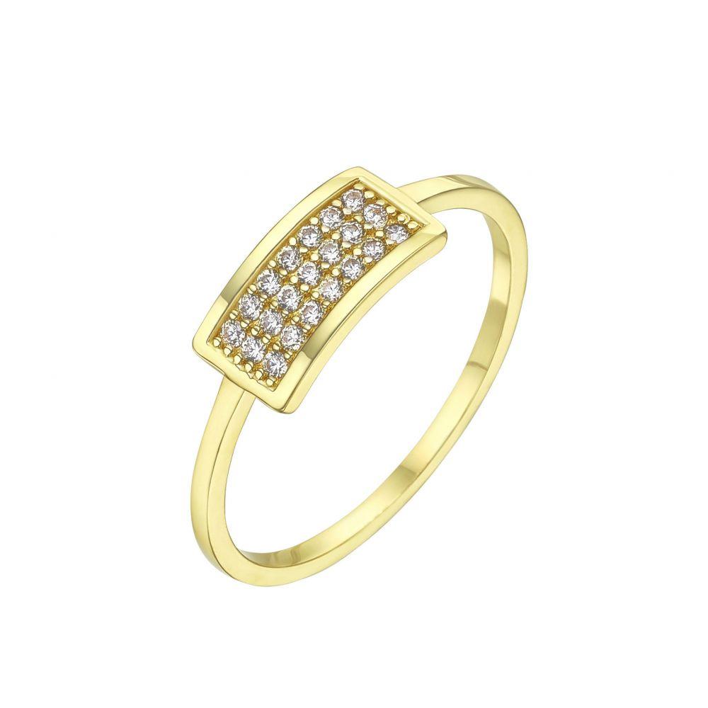 תכשיטי זהב לנשים | טבעת מזהב צהוב 14 קראט -   מרלין