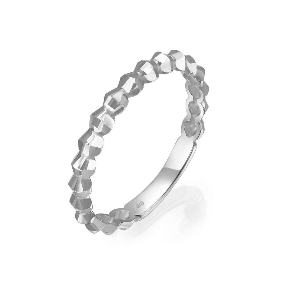 תכשיטי זהב לנשים | טבעת מזהב לבן 14 קראט - שר